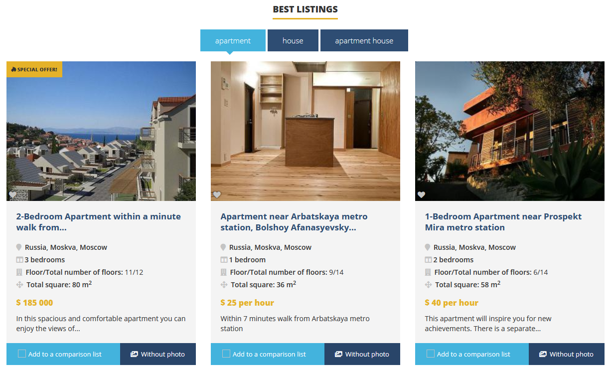 New features in Open Real Estate CMS 1.33.0 version