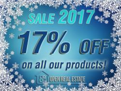 New Year Sales 2017: create your real estate website with 17% discount