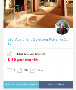 The preview of the new design for Open Real Estate