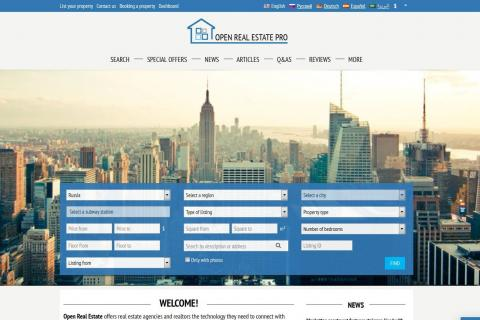 Advantages of Open Real Estate. Part 1. Estate agent's website